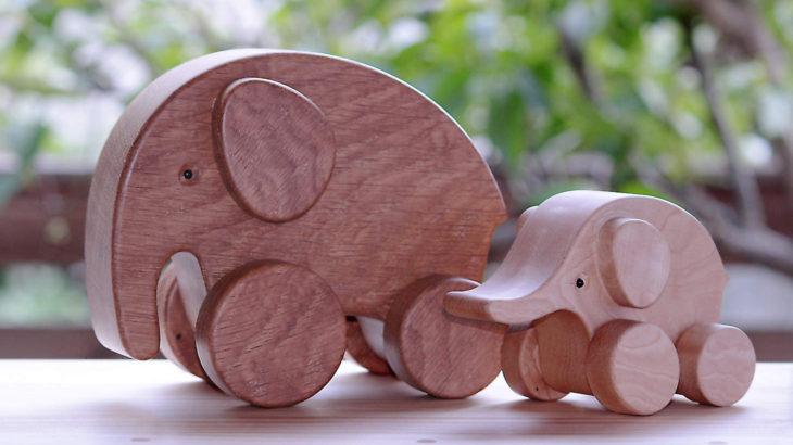 象の親子2 お母さん象